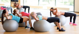 Group fitball workout