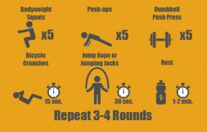 Circuit workout for novice