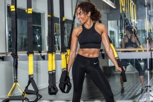 TRX Straps and woman